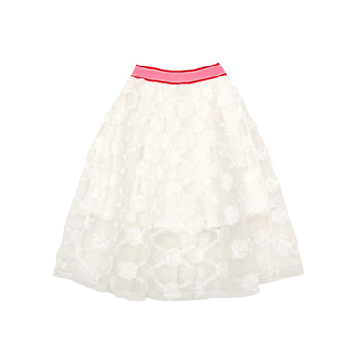 [B품 50% SALE 85,000→42,500] Flower organza skirt