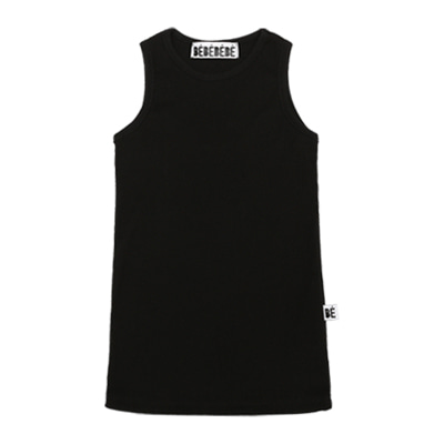 [B품 50% SALE16,000 →8,000] BE sleeveless top (black)