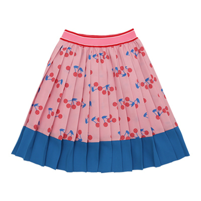 [B품 50% SALE 49,000→24,500] Lollipop cerise pleats skirt