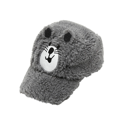 Gray bear cap