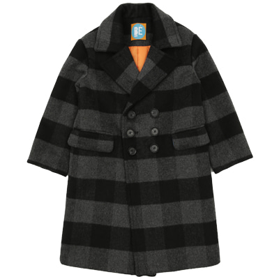 BE black checked coat