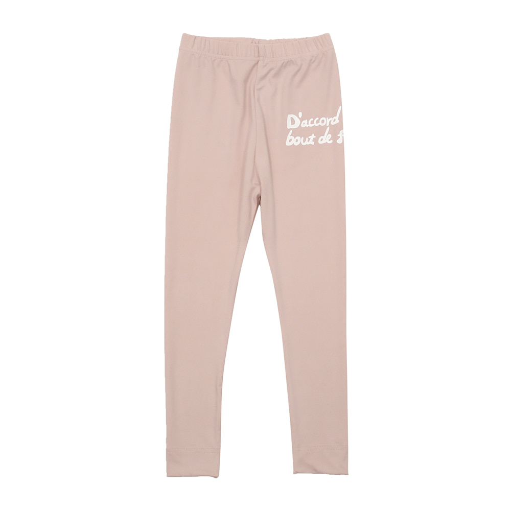 BEBEBEBE warm heat inner wear pants (LIGHT PINK)