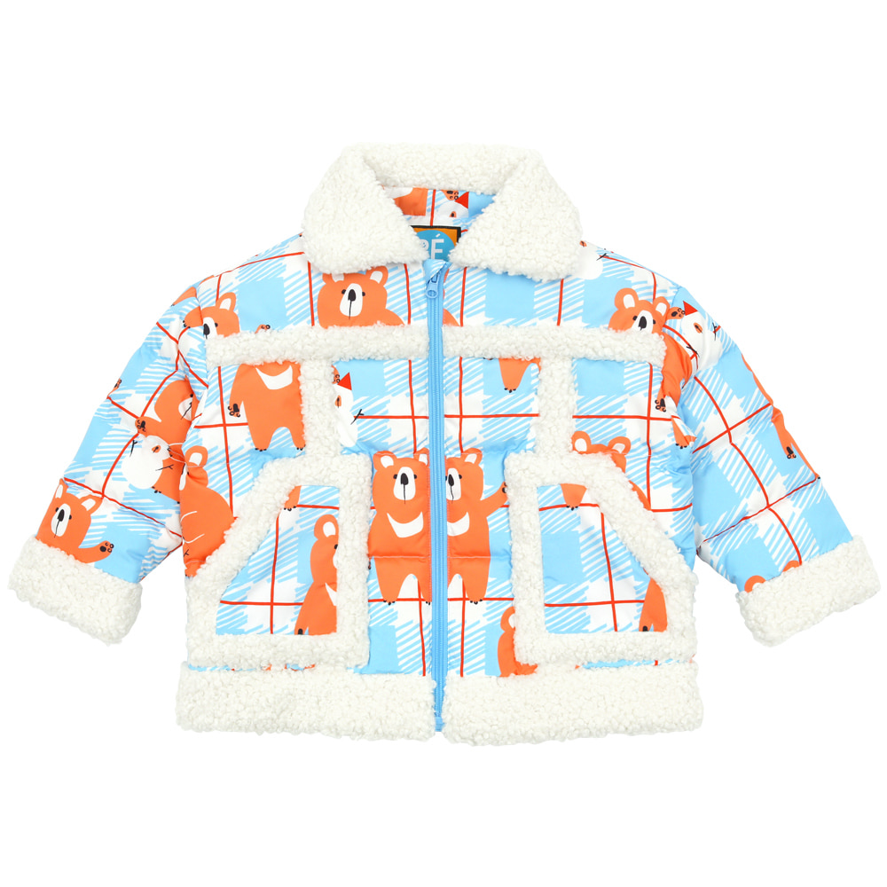 Bear down padded jumper (SKY BLUE)