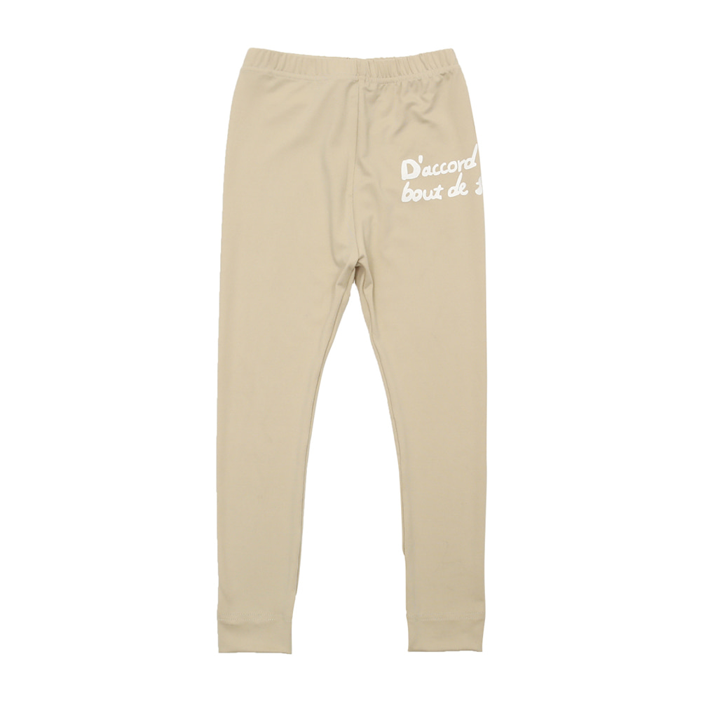 BEBEBEBE warm heat inner wear pants (BEIGE)